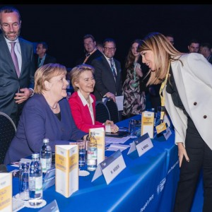 Secretary General Bregu met with the new President of the European Commission, Ursula von der Leyen and German Chancellor Angela Merkel on the margins of the European People's Party (EPP) annual Statutory Congress 2019 in Zagreb on 20 November 2019 (Photo: RCC/Damir Zizic)