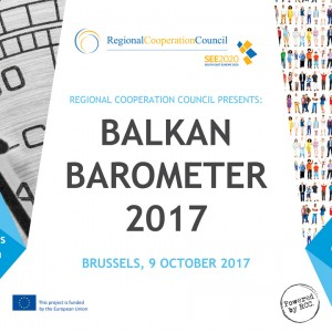 RCC to present Balkan Barometer 2017 on 9 October 2017 in Brussels