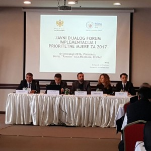 Roma Integration 2020: at Public Dialogue Forum on implementation and priority measures on Roma issues in Podgorica, 1 December 2016 (Photo: RCC/Aleksandra Bojadjijeva)