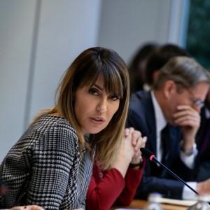 RCC Secretary General, Majlinda Bregu at the 5th meeting of MAP REA coordinators from the Western Balkans in Brussels, 2 December 2019 (Photo: RCC/Laure Geerts)