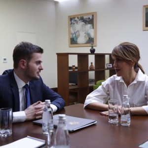 RCC Secretary General Majlinda Bregu meets the Acting Minister of Foreign Affairs of Albania, Gent Cakaj, on 2 February 2019 in Tirana. (Photo: Courtesy of the Ministry of Foreign Affairs)