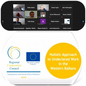 1st meeting of the Western Balkans's Network Tackling Undeclared Work took place online on 30 September 2020