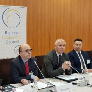 The South East European National Security Authorities' (SEENSA) met in Tirana on 10 April 2019, at the meeting co-organized and co-chaired by the Regional Cooperation Council (RCC) and the National security agency (NSA) of Albania (Photo: RCC/Natasa Mitrovic)