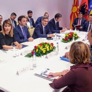 Regional Cooperation Council (RCC) Secretary General Majlinda Bregu at the meeting of Western Balkans leaders in Ohrid on 10 November 2019