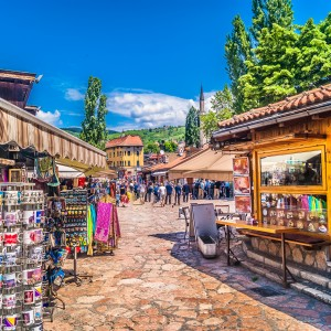 Old town - Bascarsija in Sarajevo, Bosnia and Herzegovina (Photo: Shutterstock)