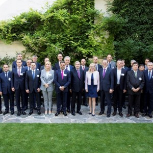 Participants of the meeting of the Ministers of Economy of the London Western Balkans Summit, held in Vienna, 4 July 2018 (Photo: RCC/Maja Handjiska Trendafilova)