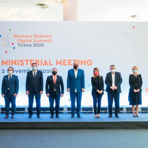 3rd Western Balkans Digital Summit in Tirana ended by 2 MoUs: on 5G roadmap for digital transformation;  and on regional interoperability and trust services in the region, signed by the WB6 on 2 November 2020 (Photo: RCC/Armand Habazaj)