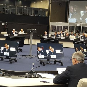 RCC Secretary General Goran Svilanovic speaking at the EU-Western Balkans Summit hosted by the Bulgarian Presidency of the Council of the EU, in Sofia on 17 May 2018. (Photo: Vesselin Valkanov)