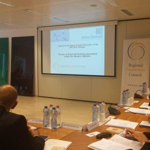 RCC presents initial insights of the draft Regional Roaming Study  to the governments' and communication regulatory agencies' representatives from the Western Balkans, in Brussels, on 18 October 2016. (Photo: RCC/Nadja Greku)