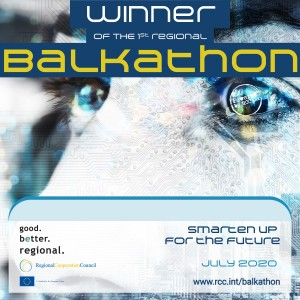 Teams awarded for their best innovative solutions for smart tourism, digital learning and online payments at Balkathon finals on 16 July 2020