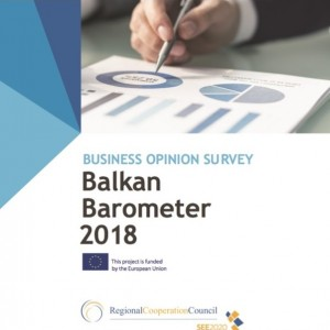 BALKAN BAROMETER 2018: BUSINESS OPINION SURVEY COVER