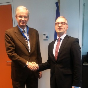 RCC Secretary General, Goran Svilanovic (right), meets Christian Danielsson, Director General for Enlargement at the European Commission, in Brussels on 7 February 2017. (Photo: RCC/Ivana Petricevic)