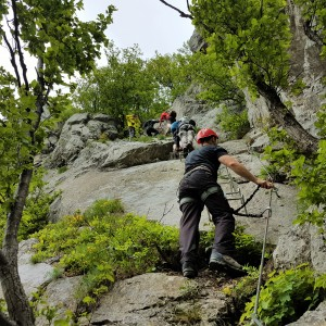 If looking for an adventure Peje/Pec is a place to be.  A hiking trip in Rugova Mountains will easily evolve into a rock climbing experience. (Photo: Butterfly Outdoor Adventure)