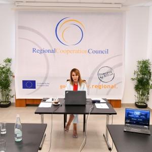 RCC Secretary General Majlinda Bregu at the Berlin Summit (Photo: RCC/Armand Habazaj)