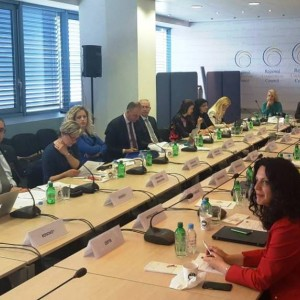 Regional Cooperation Council's (RCC) South East European Investment Committee (SEEIC) at the plenary session in RCC premises in Sarajevo, 27 April 2018 (Photo: RCC/Nedima Hadziibrisevic)