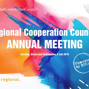 The Annual meeting of the Regional Cooperation Council (RCC) will take place on 8 July 2019 in Sarajevo, Bosnia and Herzegovina (Illustration: RCC/Sejla Dizdarevic)