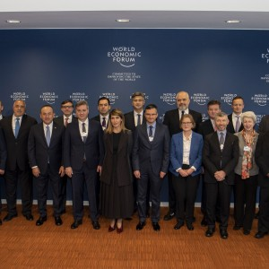 Secretary General of the Regional Cooperation Council at the Western Balkans leaders meeting, held in Geneva on 8 November 2019 (Photo: Courtesy of World Economic Forum)