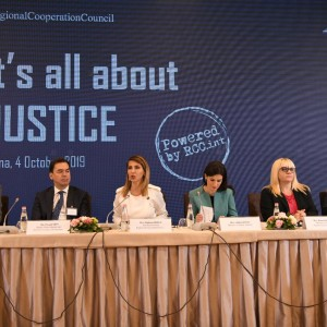 "Opening of the High Level Regional Conference ""It's all about Justice"", on 4 October 2019, in Tirana. (Photo: RCC/Armand Habazaj)"