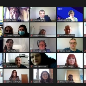 Participants of 3rd Plenary meeting of the Western Balkan Network Tackling Undeclared Work held via zoom platform under the RCC-implemented and EU-funded ESAP 2 project, 16 April 2021 (Photo: RCC/ESAP2)