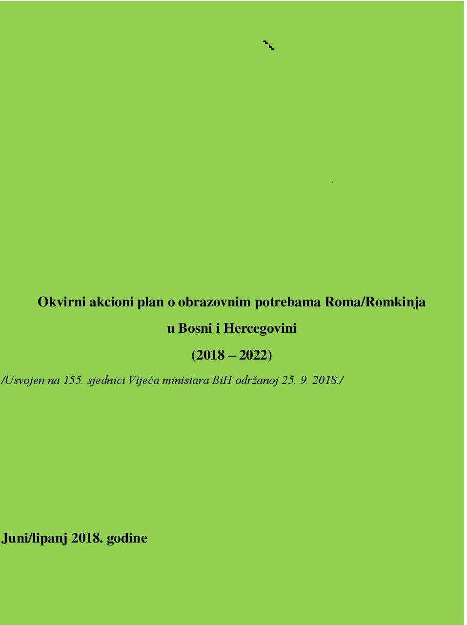 Framework Action Plan on Education