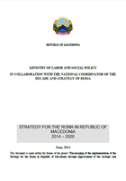 Strategy for the Roma  2014 - 2020 - Former Yugoslav Republic of Macedonia
