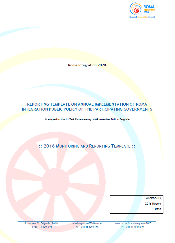 The Former Yugoslav Republic of Macedonia Annual Report for 2016