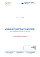 TEMPLATE FOR REPORT ON THE IMPLEMENTATION OF THE ROMA INTEGRATION PUBLIC POLICY FOR 2016