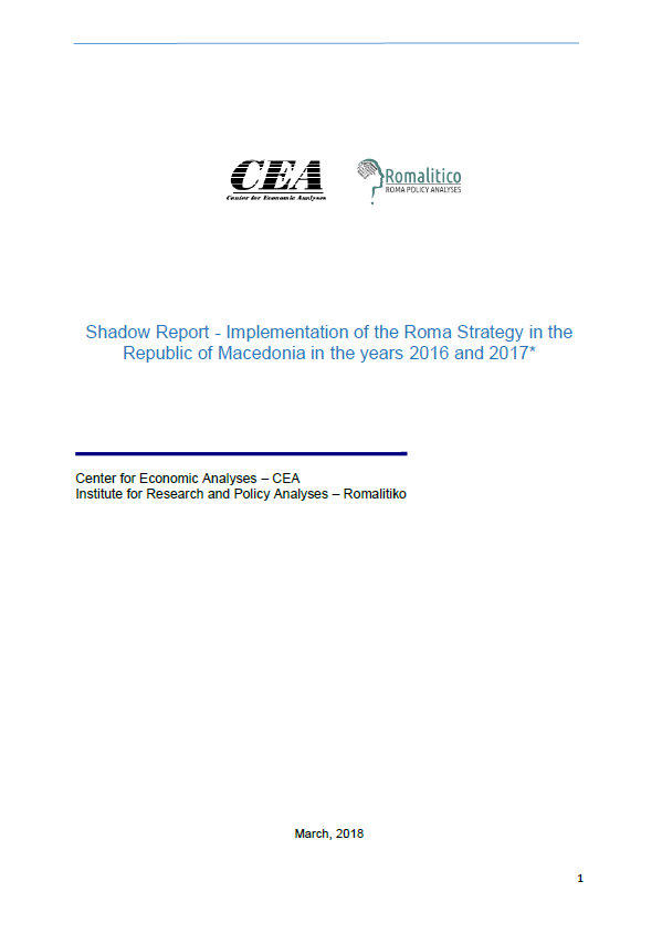 Shadow Report - Implementation of the Roma Strategy in the Republic of Macedonia in the years 2016 and 2017