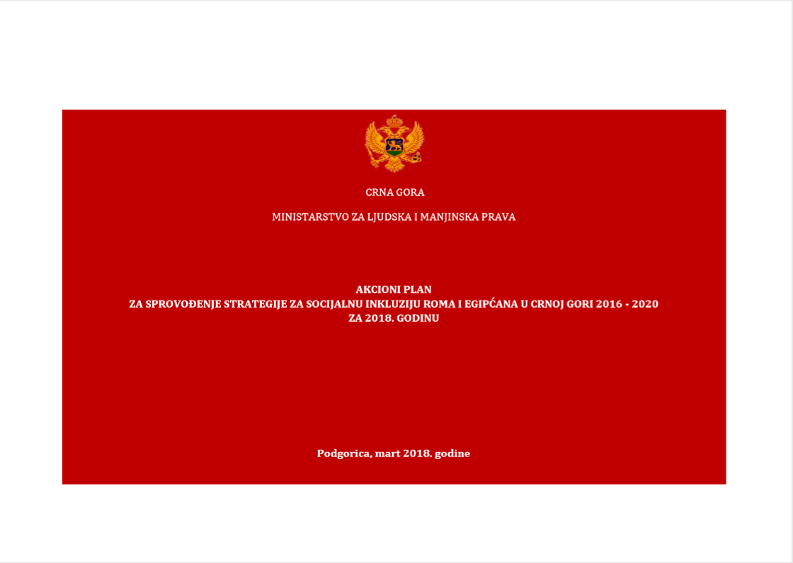 Action Plan for the Implementation of Strategy for Social Inclusion of Roma and Egyptians 2016-2020 for 2018