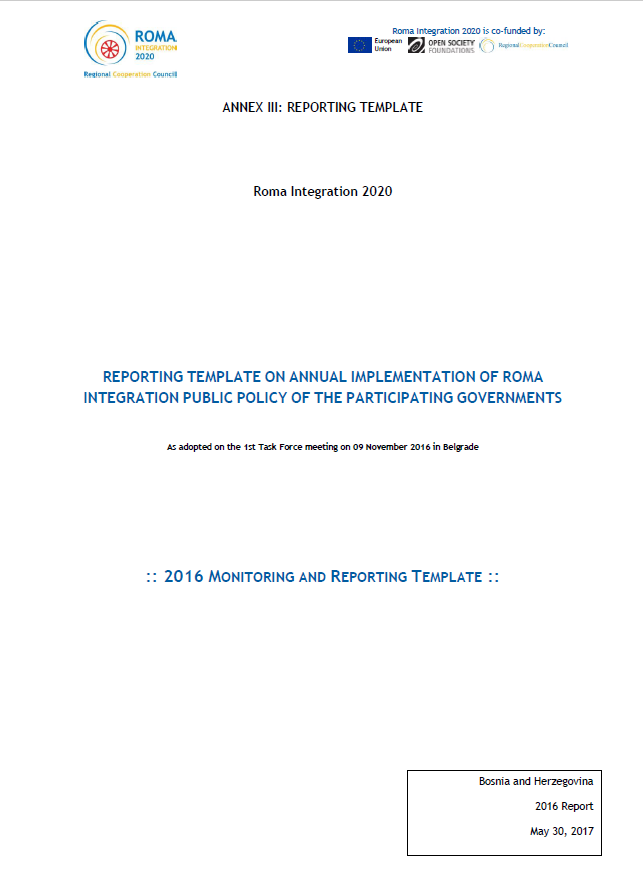 Bosnia and Herzegovina Annual Report  for 2016