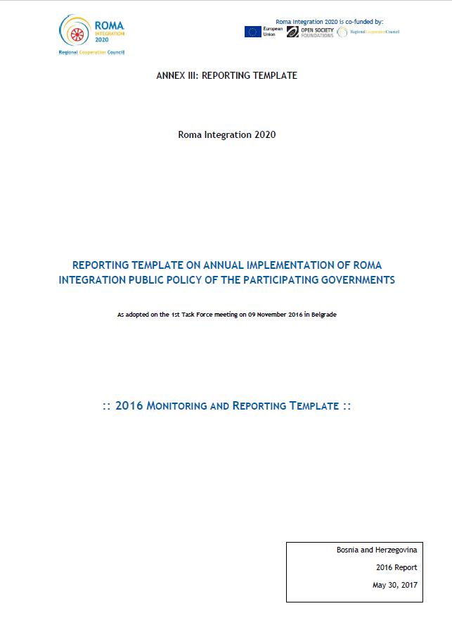 2016 Progress Report Bosnia and Herzegovina