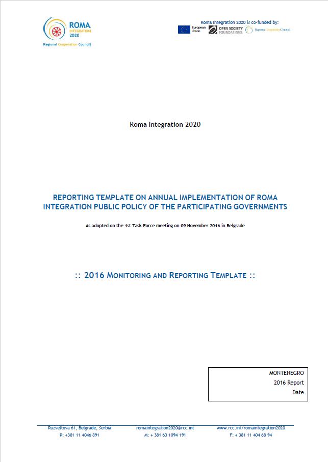 2016 Progress Report Montenegro