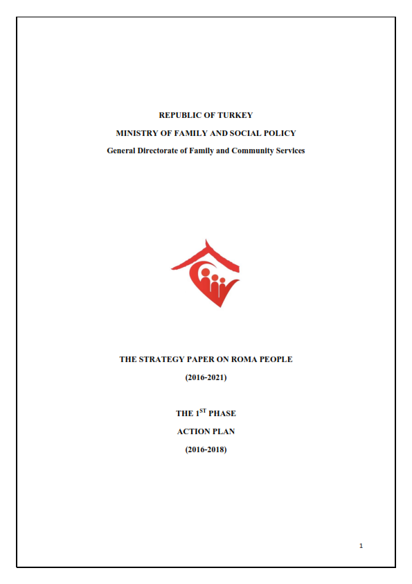 The Strategy Paper on Roma People 2016-2021 Action Plan - Turkey