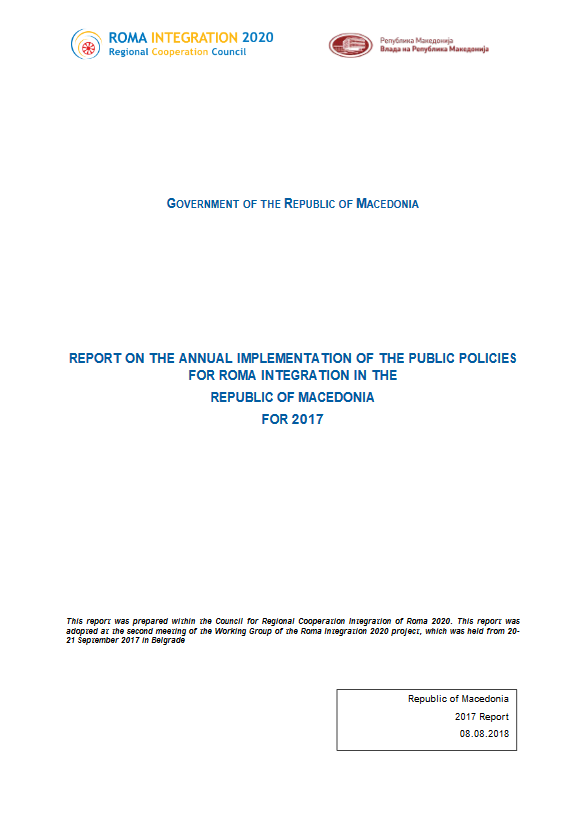 The Former Yugoslav Republic of Macedonia Annual Report for 2017