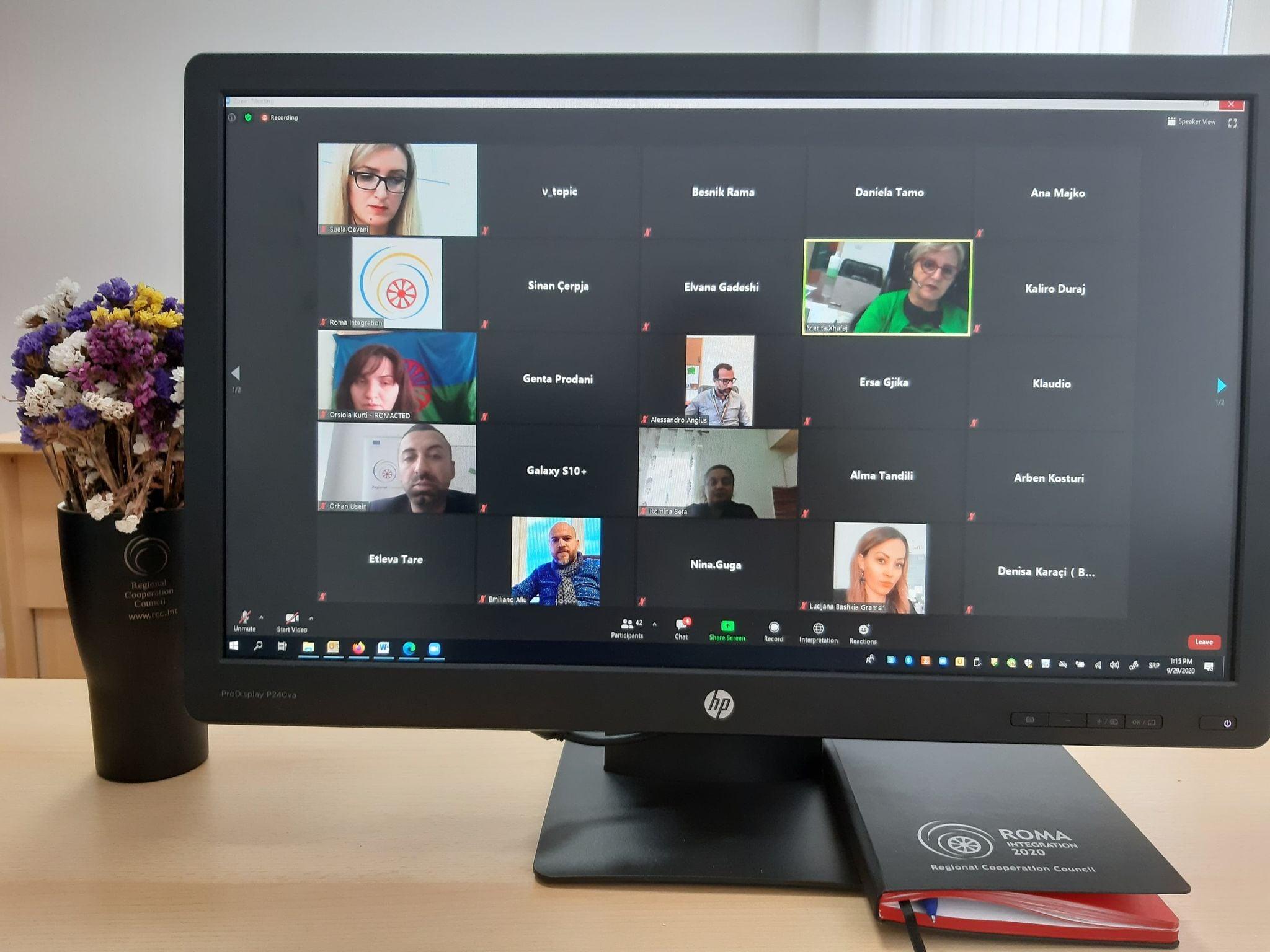 National Platform Albania, online meeting