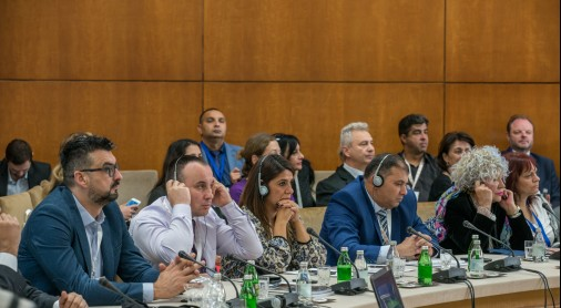 Participants of the regional conference on economic situation of Romani women in the European Union enlargement region, organized by the Regional Cooperation Council's (RCC) Roma Integration 2020 (RI2020) in cooperation with the Government of Serbia and CARE International Balkans, in Belgrade on 31 October 2018 (Photo: RCC/Nemanja Brankovic)