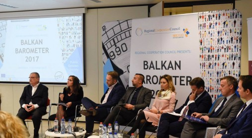 Regional Cooperation Council (RCC) presents Balkan Barometer 2017 survey, in Brussels on 9 October 2017. (Photo: RCC/Selma Ahatovic-Lihic)