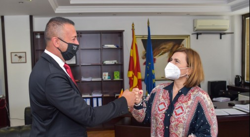 Mr Usein and Ms Shahpaska; Photo credit: Ministry of Labour and Social Policy, the Republic of North Macedonia