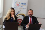 Mr Orhan Usein, Head of Office, and Ms Mimoza Gavrani, Policy Expert