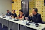 Aleksandra Bojadjieva at the Presentation of the Report on situation of Roma in Serbia, Media Center, Belgrade, 22.05.2018 (photo: Medija Centar, Beograd)