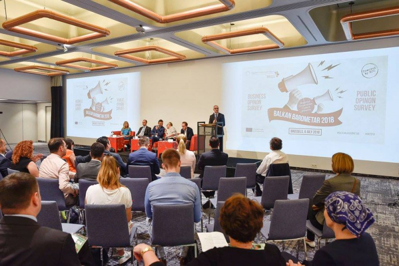 Regional Cooperation Council / RCC presents Balkan Barometar 2018, Brussels, 6 July 2018 (Photo: RCC/Jerome Hubert)