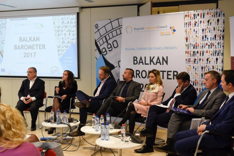 Regional Cooperation Council (RCC) presents Balkan Barometer 2017 survey, in Brussels on 9 October 2017. (Photo: RCC/Selma Ahatovic-Lihic)