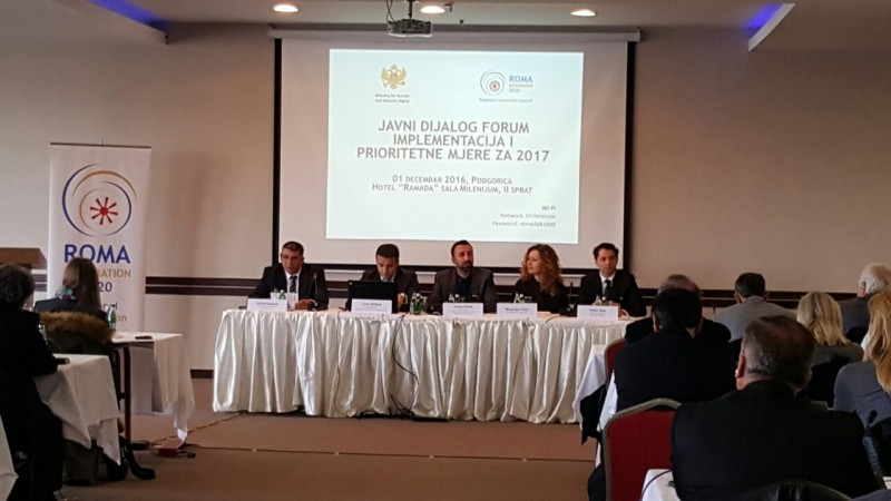 Roma Integration 2020: at Public Dialogue Forum on implementation and priority measures on Roma issues in Podgorica, 1 December 2016 (Photo: RCC/Aleksandra Bojadjijeva)