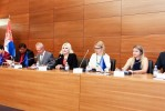 Opening panel of ROMACTED launching in Serbia, 29.05.2018: Mr Tim Cartwright, Deputy Prime Minister Zorana Mihajlović, Ms Matea Norčić Stamčar, Mr Tefik Ramadanović, Mr Ivan Bošnjak, Ms Aleksandra Bojađieva and Ms Aurora Ailincai. (Photo: Cabinet of the Deputy Prime Minister of Republic of Serbia)