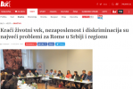 Printscreen: Interview with RI2020 Action Team Leader Orhan Usein in Serbian news portal Blic
