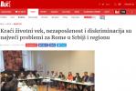 Printscreen: Interview with RI2020 Action Team Leader Orhan Usein in Serbian news portal Blic