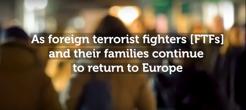 Photo: Screenshot (Source: RAN Film - Foreign terrorist fighters (FTFs) and their families)