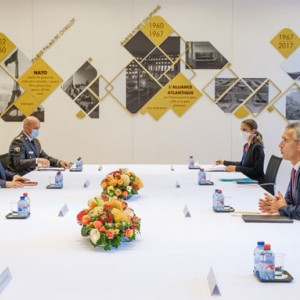 Stoltenberg and Hoti talked about regional security in NATO HQ