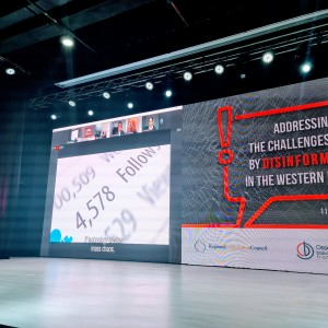 """Opening of the two-day online webinar """"Addressing the challenges posed by disinformation in the Western Balkans"""" held in Sarajevo on 11-12 November 2020 (Photo: RCC)"""