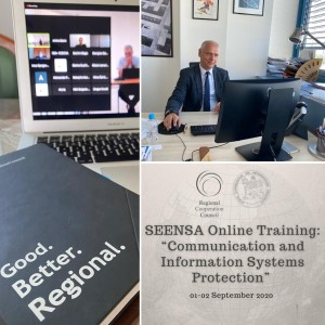 "Photo: Online Training: ""Communication and Information Systems Protection"" organized by RCC took place on 1-2 September 2020 in an online format (Photo: RCC)"